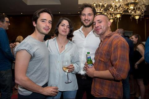 Dan Sickles and Antonio Santini, Directors of DINA, with friends